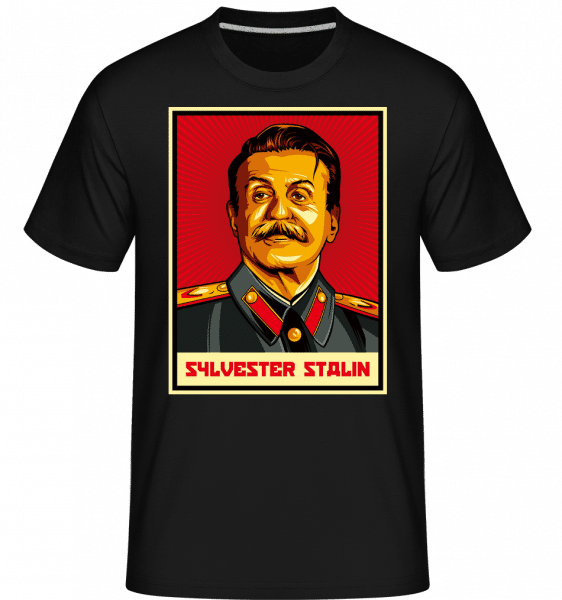 Sylvester Stalin -  Shirtinator Men's T-Shirt - Black - Front
