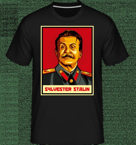 Sylvester Stalin -  Shirtinator tričko pre pánov - Čierna - Predné