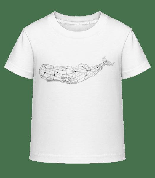 Polygon Baleine - T-shirt shirtinator Enfant - Blanc - Vorn