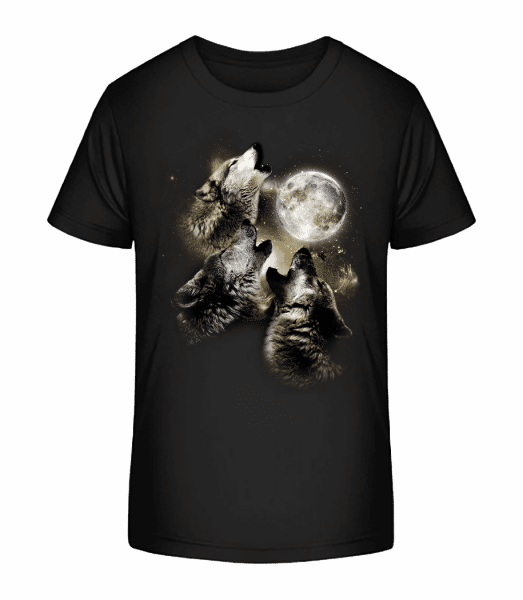 Wolf Moon - Kid's Premium Bio T-Shirt - Black - Vorn