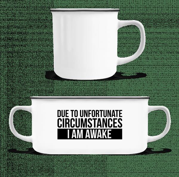 I Am Awake - Emaille-Tasse - Weiß - Vorn