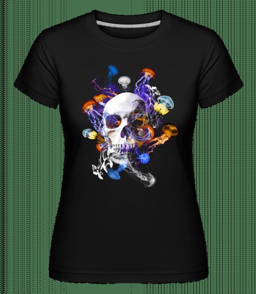 Skull Jellyfish -  Shirtinator Women's T-Shirt - Black - Vorn