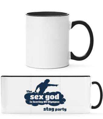 Stag Party Sex God - Two-toned Mug - White - Vorn
