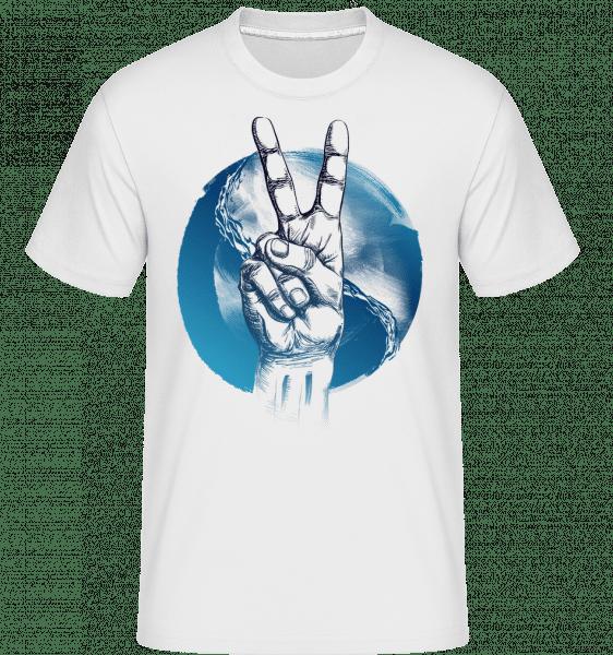 Ozean Peace - Shirtinator Männer T-Shirt - Weiß - Vorn