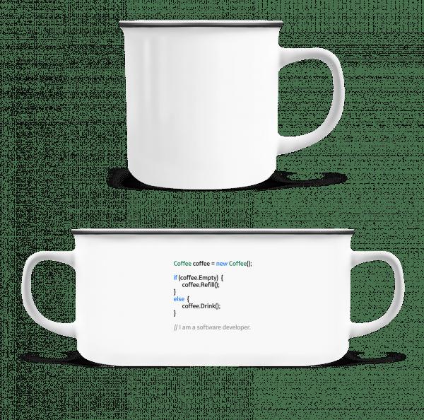 Coffee Loop - Enamel-cup - White - Vorn