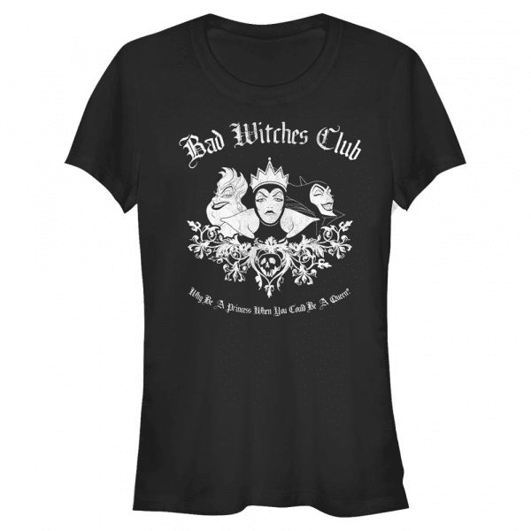 Bad Witch Club Group Shot - Disney Villains - Women's T-Shirt - Black - Front