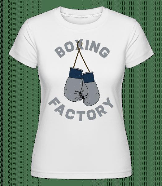 Boxing Factory -  Shirtinator Women's T-Shirt - White - Vorn