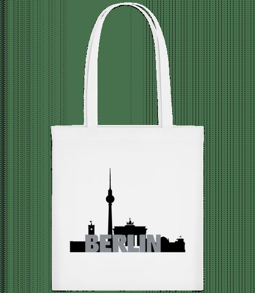 Berlin Germany - Carrier Bag - White - Vorn