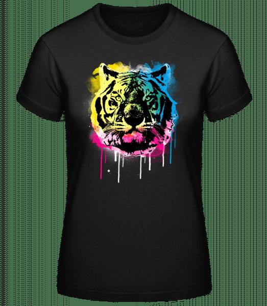 Bunter Tiger - Basic T-Shirt - Black - Vorn