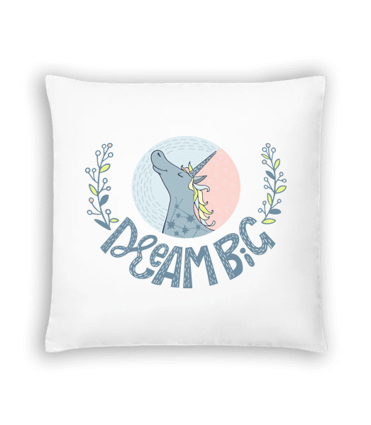 Dream Big Unicorn - Cushion - White - Vorn