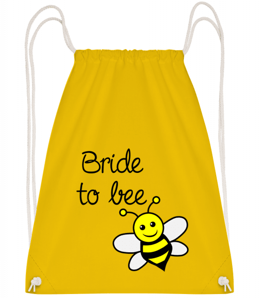 Bride To Bee - Drawstring Backpack - Yellow - Vorn