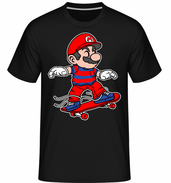 Mario Skateboard -  Shirtinator Men's T-Shirt - Black - Front
