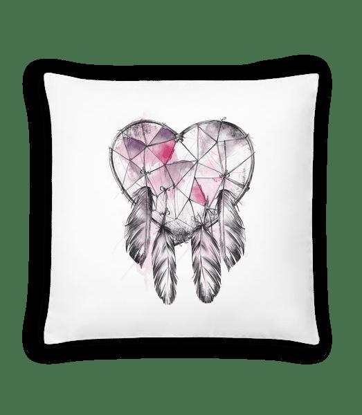 Traumfänger Herz - Kissen - Weiß - Vorn