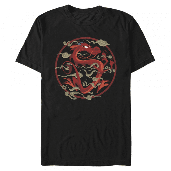 Serpentine Salvation Mushu - Disney Mulan - Men's T-Shirt - Black - Front