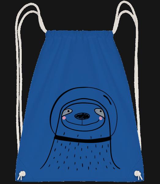 Space Faultier - Gym bag - Royal blue - Vorn