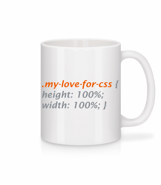 My Love For CSS - Mug - White - Vorn