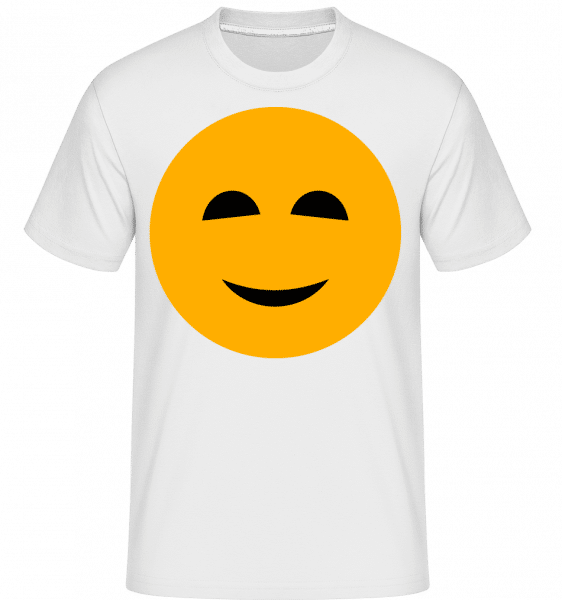 Happy Smiley -  Shirtinator Men's T-Shirt - White - Vorn