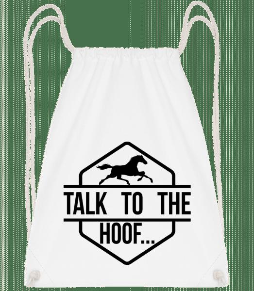 Talk To The Hoof - Gym bag - White - Vorn