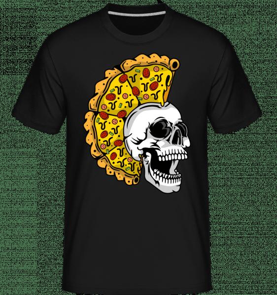 Skull Pizza - Shirtinator Männer T-Shirt - Schwarz - Vorn