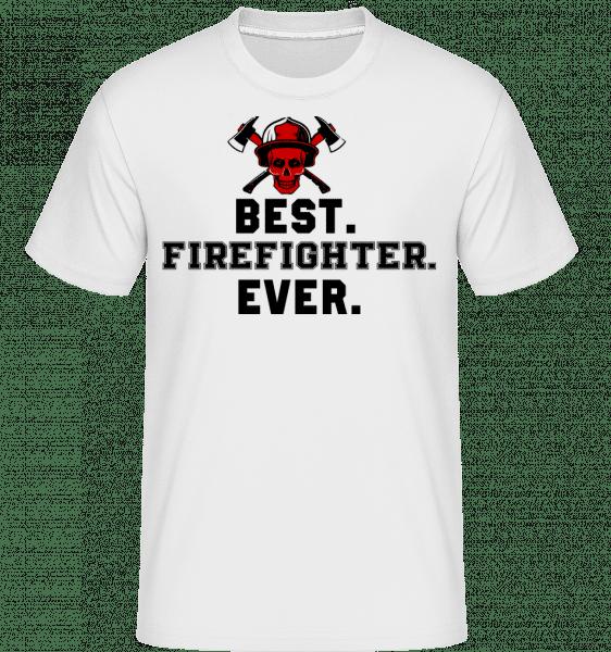 Best Firefighter Ever -  Shirtinator Men's T-Shirt - White - Vorn