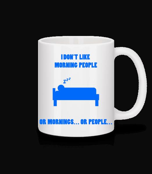 Morning People - Mug - White - Front