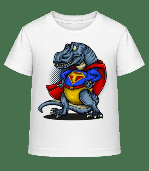 Super T-Rex - Detské Shirtinator tričko - Biela - Predné
