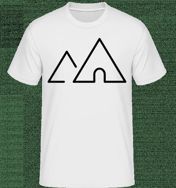 Camping Symbol -  Shirtinator Men's T-Shirt - White - Vorn