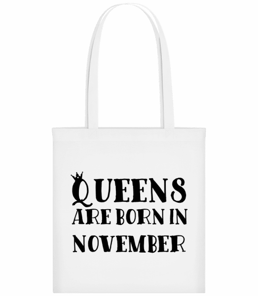 Queens Are Born In November - Sac tote - Blanc - Vorn