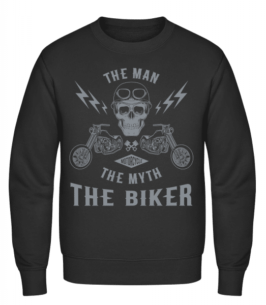 The Man The Myth The Biker - Classic Set-In Sweatshirt - Black - Vorn