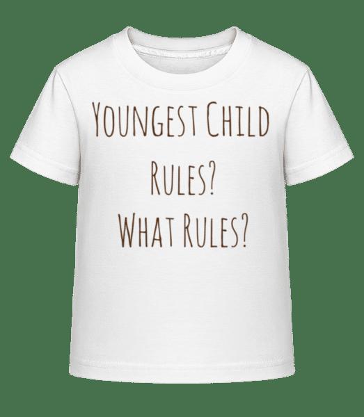 Youngest Child - Kid's Shirtinator T-Shirt - White - Vorn