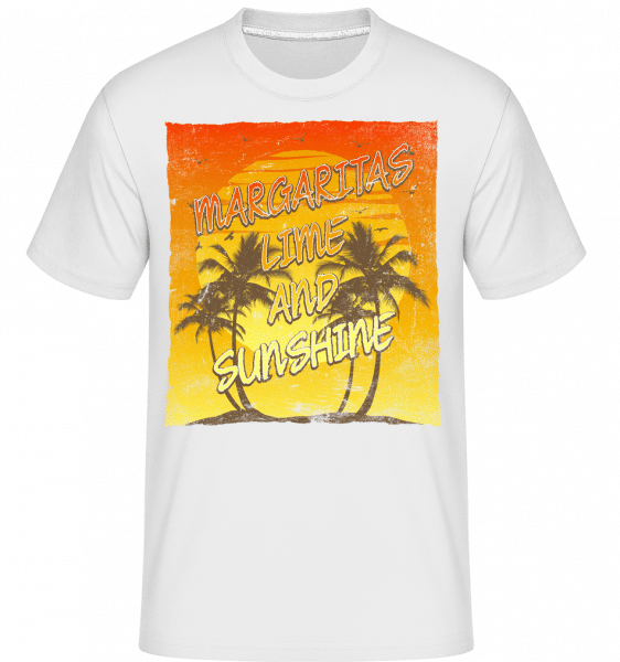 Margaritas And Sunshine -  Shirtinator Men's T-Shirt - White - Vorn