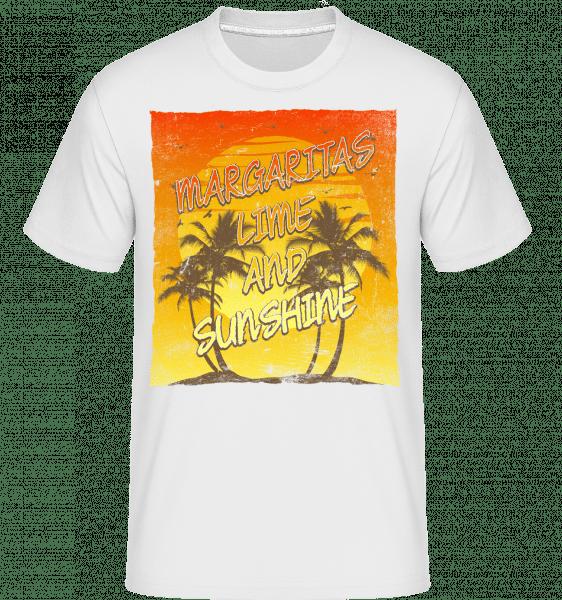 Margaritas And Sunshine -  T-Shirt Shirtinator homme - Blanc - Vorn