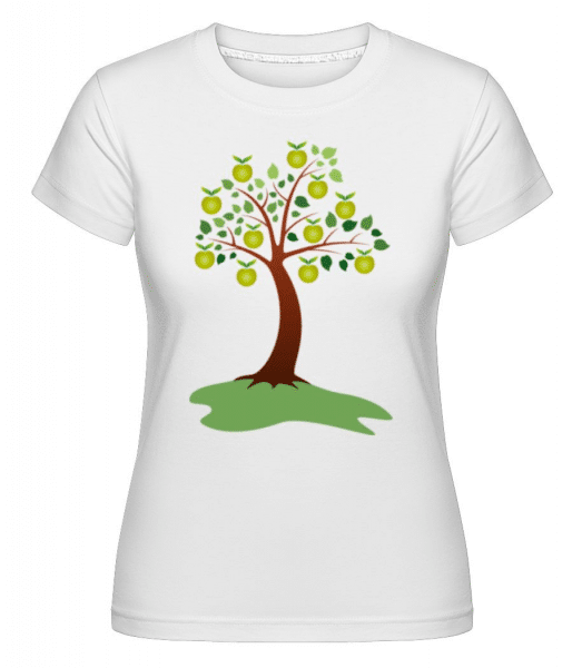 Apple Tree Summer -  Shirtinator Women's T-Shirt - White - Front