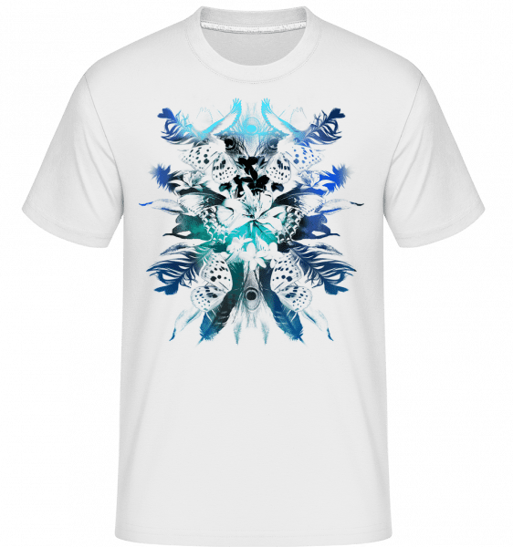 Feathers And Butterflies -  Shirtinator Men's T-Shirt - White - Vorn