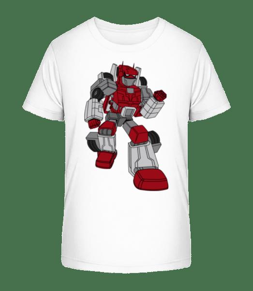 Car Robot - Kid's Premium Bio T-Shirt - White - Vorn