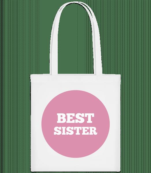 Best Sister - Carrier Bag - White - Vorn