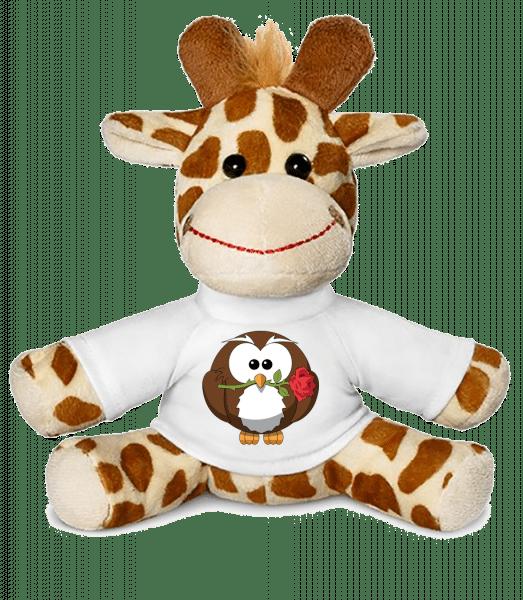Valentine's Day Owl - Giraffe - White - Vorn