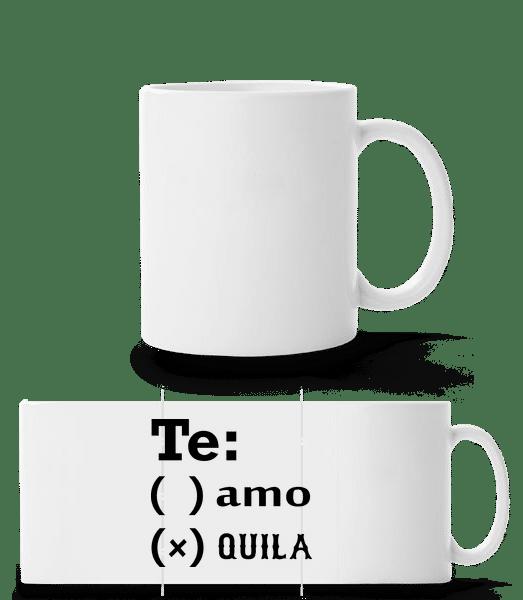 Te Amo Tequila - Panorama Mug - White - Vorn