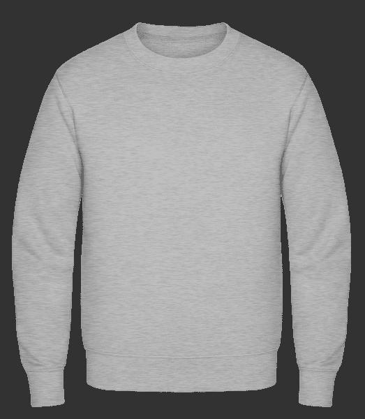 Männer Pullover - Grau meliert - Vorn