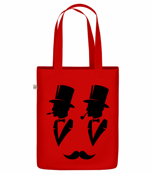"Two Gentlemen - Organic ""Earth Positive"" tote bag - Red - Vorn"