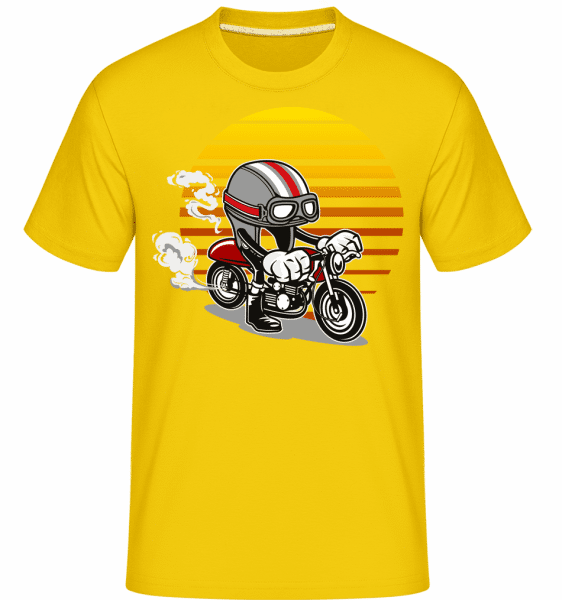 Caferacer Helmet -  Shirtinator Men's T-Shirt - Golden yellow - Vorn
