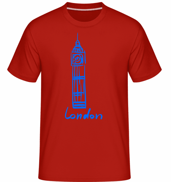London Tower Sign -  Shirtinator Men's T-Shirt - Red - Vorn