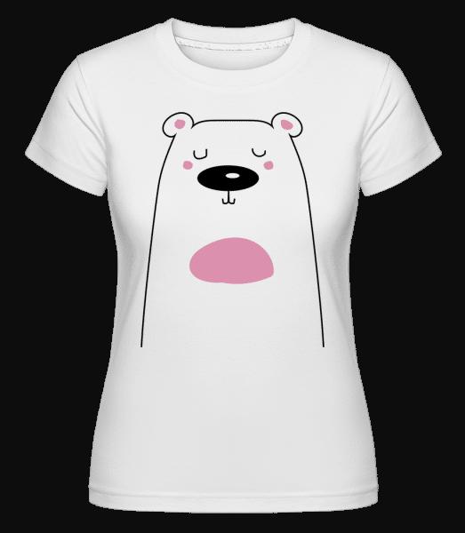 Cute Bear -  Shirtinator Women's T-Shirt - White - Vorn