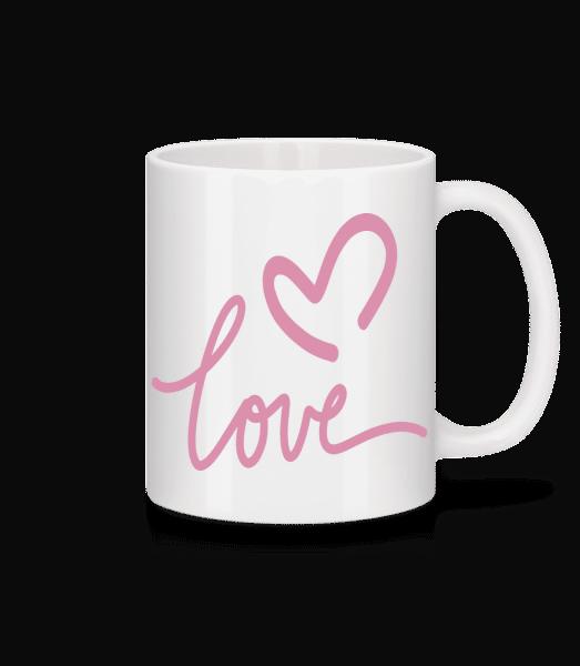 Love - Tasse - Weiß - Vorn