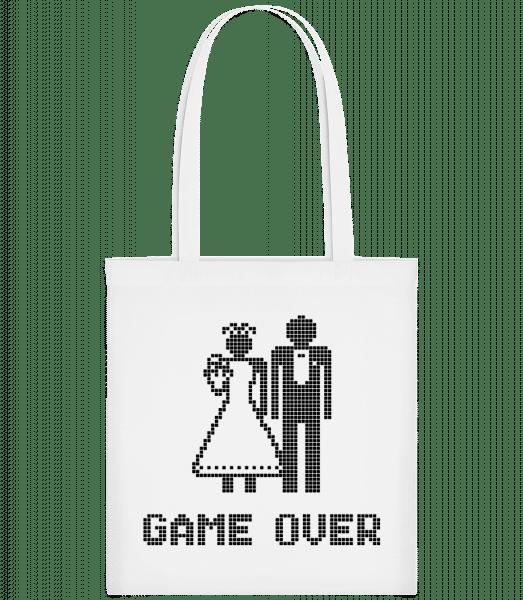 Game Over Sign Black - Taška Carrier - Bílá - Napřed