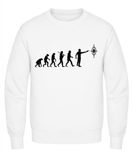 Evolution Of Shooting - Classic Set-In Sweatshirt - White - Vorn