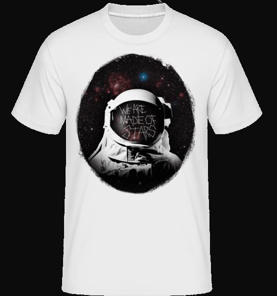 We Are Made Of Stars -  Shirtinator Men's T-Shirt - White - Vorn