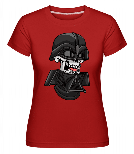 Dart Vader Skull -  Shirtinator Women's T-Shirt - Red - Front