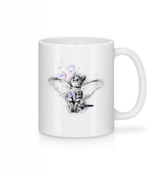 Soapbubble Cat - Mug - White - Front