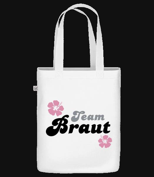 Team Braut - Bio Tasche - Weiß - Vorn